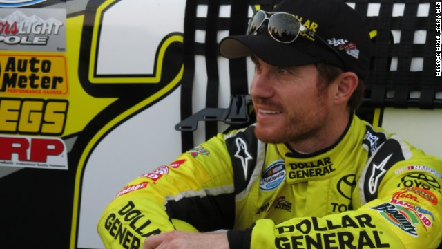 NASCAR driver says 'never give up'