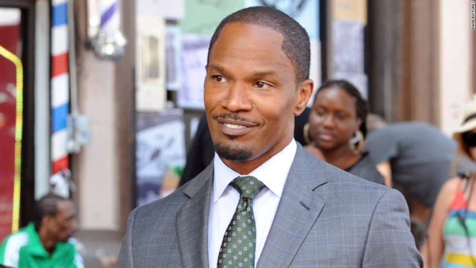 "Jamie Foxx looks sharp on the set of the ""Annie"" remake on October 4."