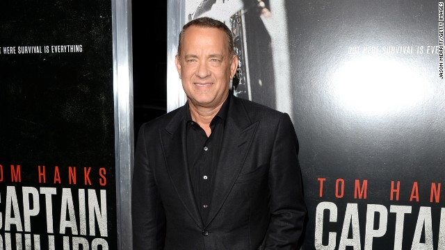 "Tom Hanks attends a recent premiere of his new film, ""Captain Phillips,"" in Beverly Hills, California."