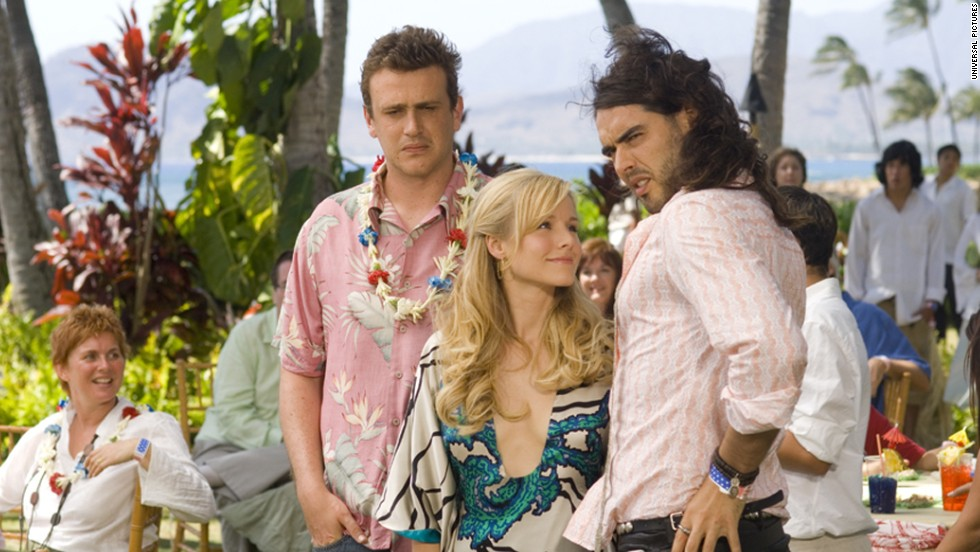 "In<strong> ""Forgetting Sarah Marshall"" </strong>(2008), Jason Segel tries to forget about ex Kristen Bell by taking a vacation in Hawaii. Unfortunately, Bell and her new boyfriend, played by Russell Brand, are also vacationing in Hawaii. Lesson: Always have a backup itinerary -- and it never hurts to make friends with the hotel concierge."