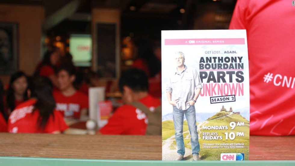 "The scavenger hunt was staged to mark the launch of <a href=""http://edition.cnn.com/video/shows/anthony-bourdain-parts-unknown/"" target=""_blank"">season 2 of Anthony Bourdain: Parts Unknown</a>. The show airs Mondays at 9 a.m., Fridays at 10 p.m. and Sundays at 9 a.m. HKT on CNN International."
