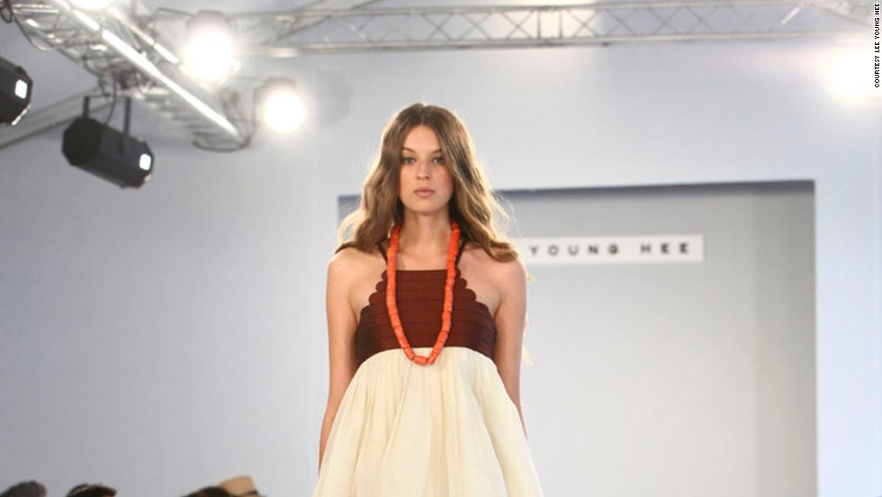 Designer Lee Young Hee showed her East-meets-West haute couture line in Paris in 2012.
