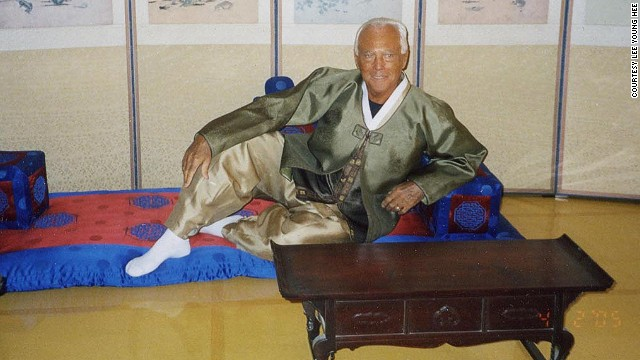 Giorgio Armani is among the list of high-profile hanbok admirers.