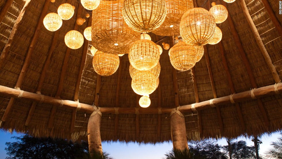 This new hotel has a lobby topped with an oval palapa, crafted over a month by 15 people.