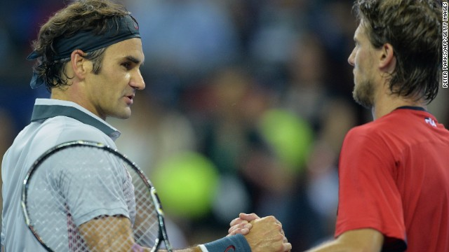 Roger Federer trailed Andreas Seppi early at the Shanghai Masters but rallied to win in straight sets.