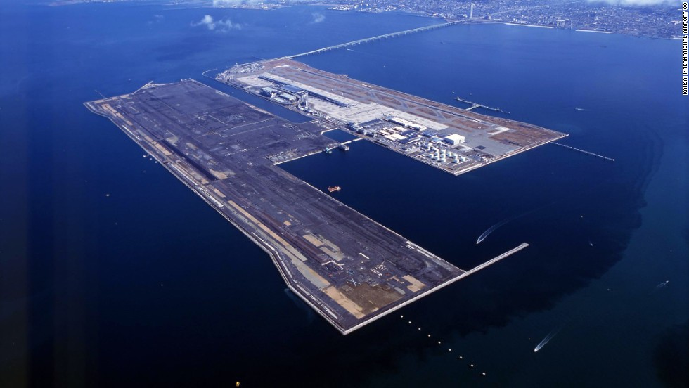 The floating runways off Osaka are the closest you can come to an aircraft carrier landing without enlisting.