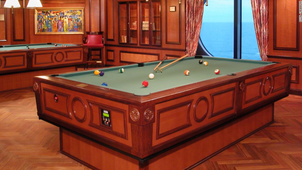 Royal Caribbean's cruise ship, <em>Radiance of the Seas</em>, has the solution for those considering a game of pool in rough seas.   Its gyroscopic pool table has what's known as gyroscopic self-correcting underpinnings, which means that, in rough seas, when the boat tilts one way, the pool table tilts the other to keep everything on the level.