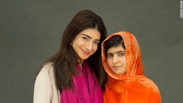 Shiza Shahid, CEO of The Malala Fund and Malala Yousafzai.