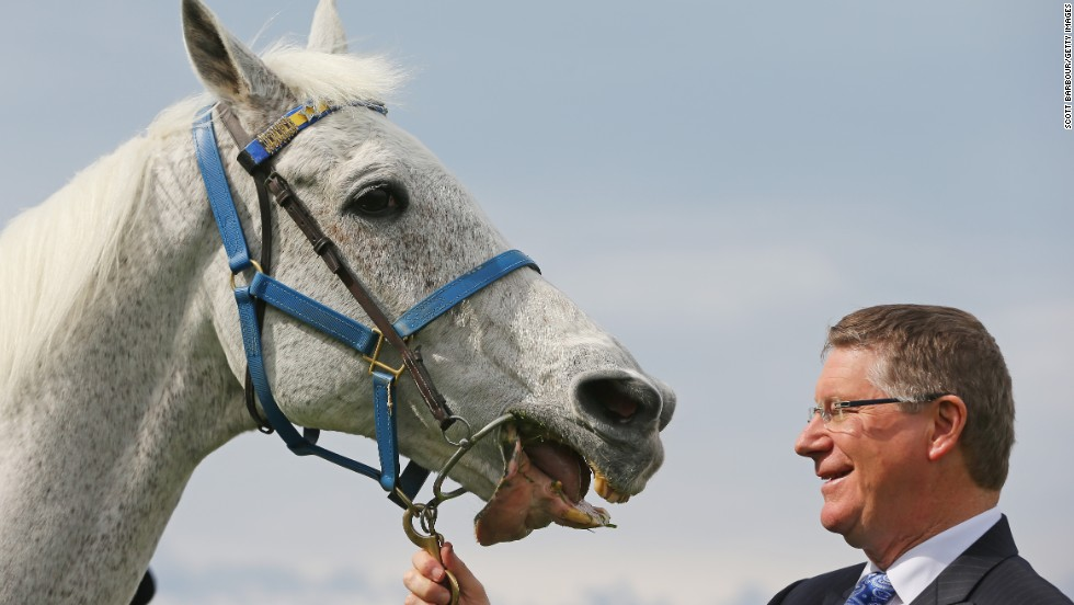Subzero has been roped into all manner of photo opportunities, including this one in September of this month with Premier of Victoria Denis Napthine to mark 150 years of the Victoria Racing Club next year.