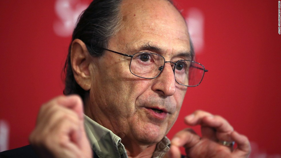 Biophysicist Michael Levitt at a news conference after winning the Nobel Prize in chemistry on October 9 at Stanford University in Stanford, California. The computer programs the men created eliminate the need for some lab testing. One example would be helping to reduce the necessity of testing a new drug on animals,