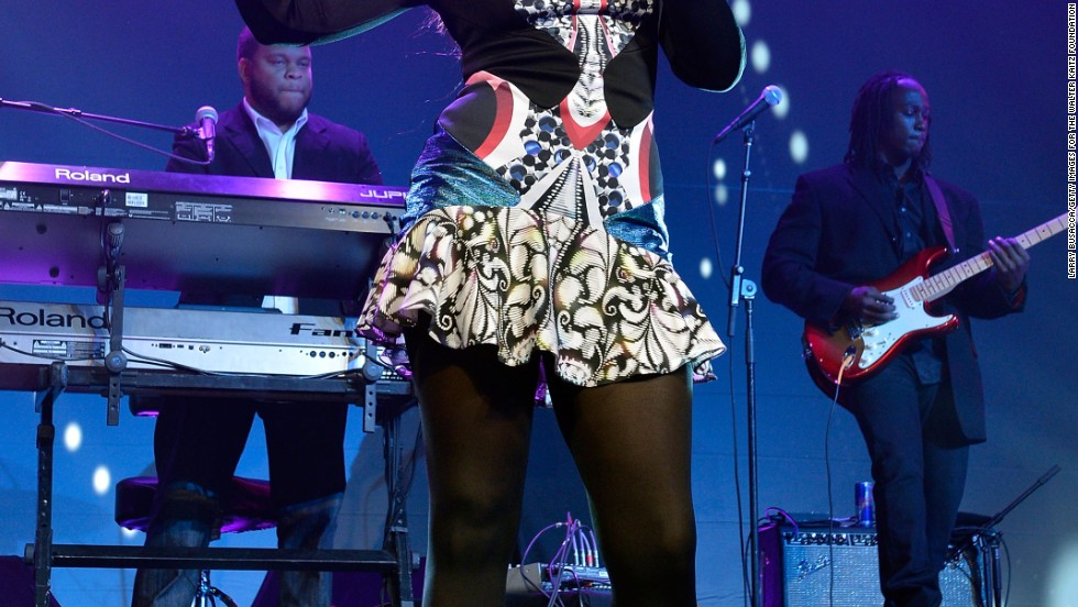 Jennifer Hudson performs at the Walter Katz Foundation Fundraising Dinner on October 9.