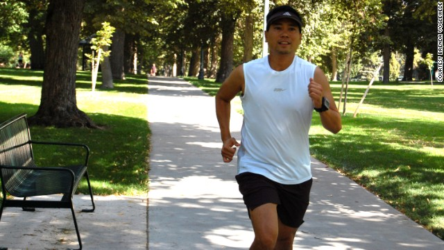 Carlos recently completed a 20-mile run while training for his next marathon.