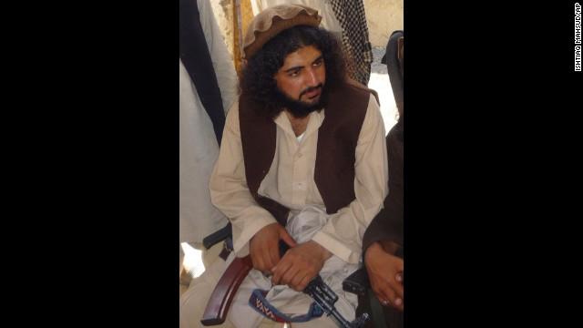Pakistani Taliban commander Latif Mehsud in Sararogha in south Waziristan, Pakistan, in this October 4, 2009 photo.