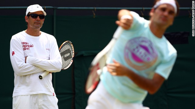 Roger Federer may be looking for a new coach after ending his partnership with Paul Annacone, left.