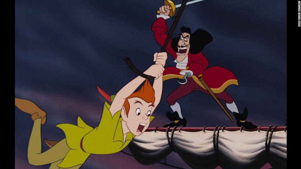 "In Disney's 1953 classic, ""Peter Pan,"" Captain Hook is the captain of a crew of pirates who have long abandoned sailing the high seas for adventure. Instead, he attempts to take revenge on a young Peter Pan for cutting off his left hand and feeding it to a crocodile."