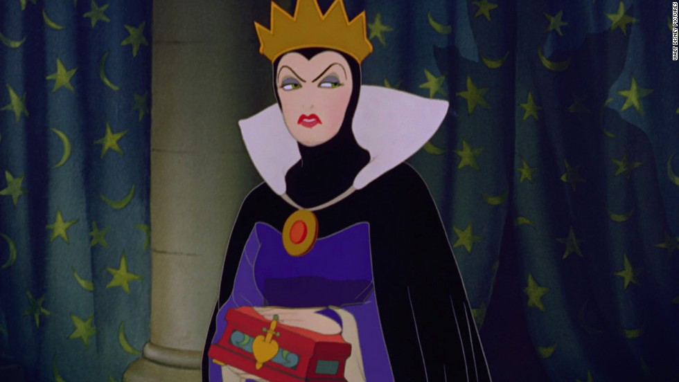 "Over the years, Disney has featured some memorable and entertaining villains, such as the Evil Queen in the 1937 film ""Snow White and the Seven Dwarfs."" Her vanity and jealousy of Snow White drives her to such a murderous insanity that she transforms herself into a hideous hag and conjures up a poison to do away with the fair princess."