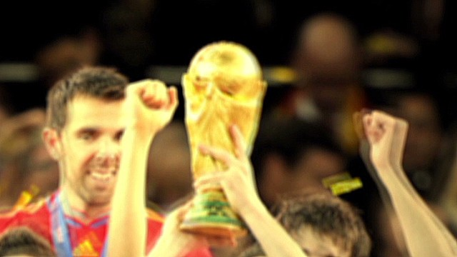 FIFA World Cup Trophy takes off