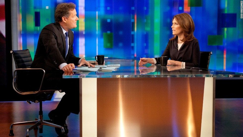 When former presidential candidate Michele Bachmann was a guest on his show, Morgan grilled her on some of the anti-gay statements she's made.