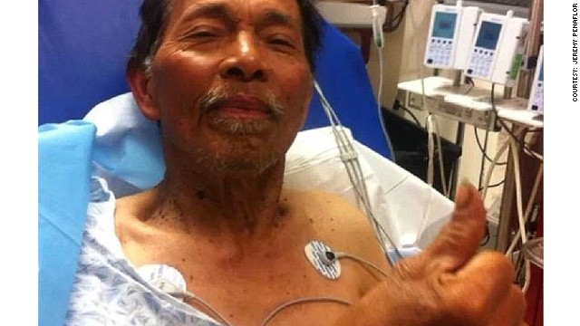Gene Penaflor, 72, was found Saturday after being lost in the Mendocino National Forest in California for 19 days.