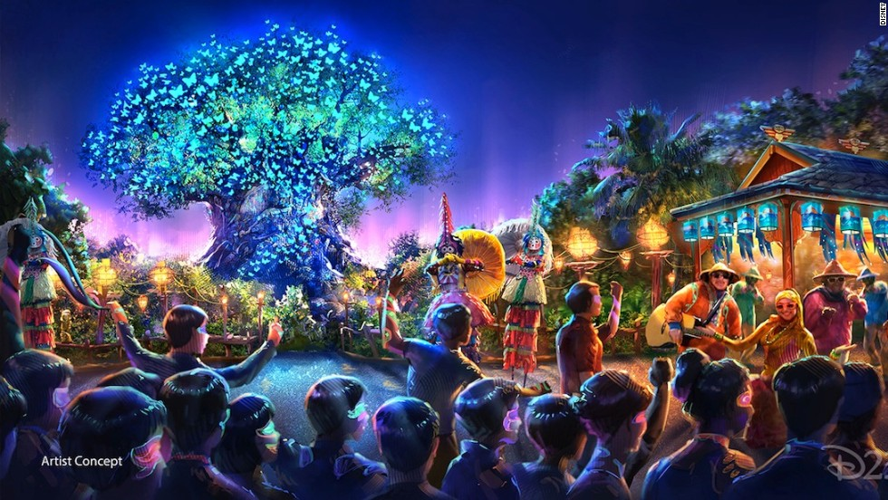 As part of the largest expansion in the history of the Animal Kingdom park, Disney will also be adding new entertainment experiences including a night show with live music, floating lanterns, water screens and swirling animal imagery.