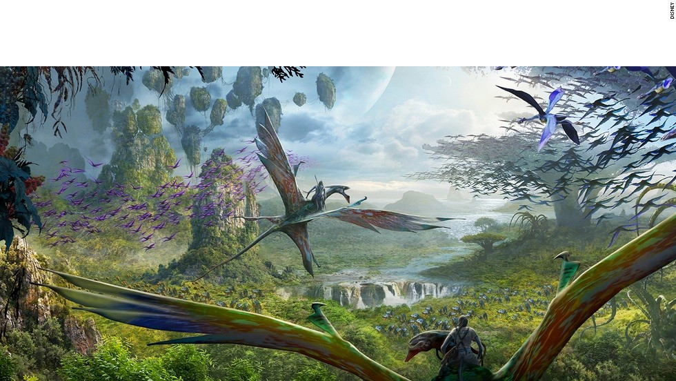 Guests of Walt Disney World Resort's Avatar-themed land will get to soar into the sky on mountain banshees, the bird-like predators from the James Cameron film.
