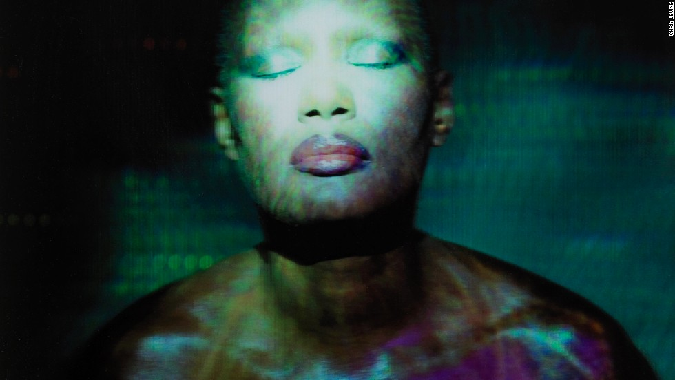 "Model turned pop diva Grace Jones has also posed for Levine, with this piece called ""Stillness at the Speed of Light."""