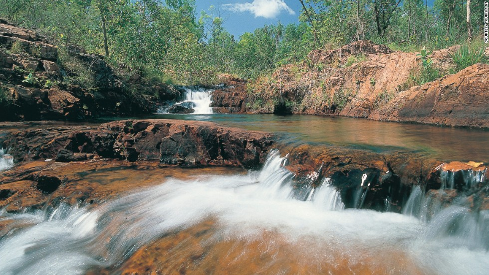 """Kakadu's little brother"" is one of the best places in the Top End for bushwalking and swimming in croc-free pools. A two-hour drive from Darwin, Litchfield is also more accessible than Kakadu during the wet season."
