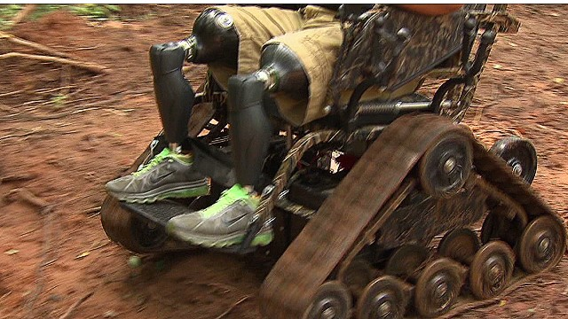 Vets conquer with all-terrain wheelchair