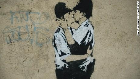 Banksy street art, London 2005