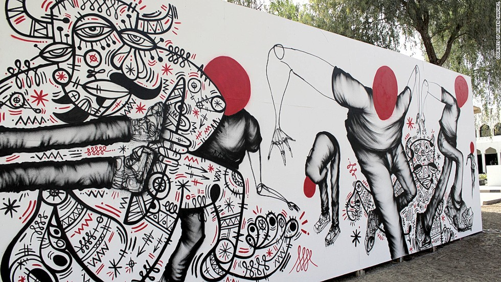 Spurred on by local artists, some of the world's most prominent graffiti writers have made guest appearances. American artist David Choe -- best known perhaps for painting the Facebook offices -- collaborated with Sanchez on one of his murals.