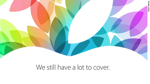Apple included this image with its invitation to a company press event October 22 in San Francisco.