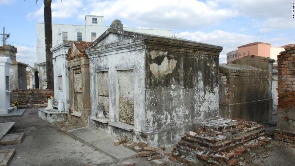 With New Orleans' high water table, rain could dislodge people from resting places thought to be final. That's why the city has a system of above-ground tombs, like these at St. Louis Cemetery No. 1. Guided tours are available through Save Our Cemeteries.