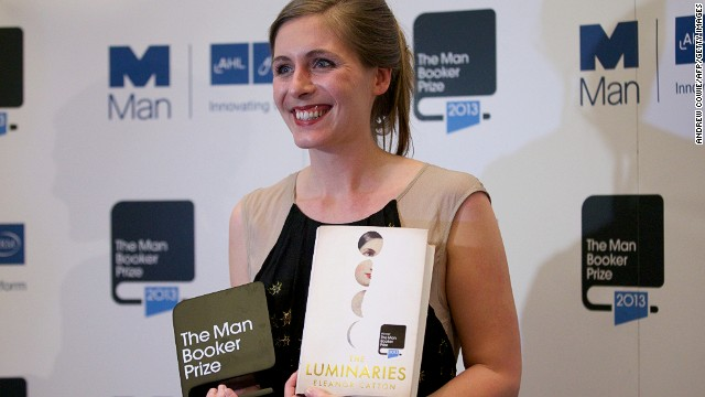 "New Zealand author Eleanor Catton after being awarded the 2013 Man Booker Prize for ""The Luminaries."""