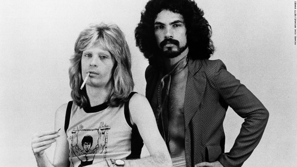 "Daryl Hall, left, and John Oates started as a soul-and-rock duo in the mid-1970s with hits such as ""Sara Smile"" and ""She's Gone."" (Incidentally, Hall thought Oates' initial drafts of ""She's Gone""<a href=""http://www.cnn.com/2009/SHOWBIZ/Music/10/12/hall.oates/""> ""reminded me of a Cat Stevens song.""</a>) Hall & Oates became one of the biggest acts of the 1980s with songs such as ""Kiss on My List,"" ""I Can't Go for That (No Can Do)"" and ""Out of Touch."""