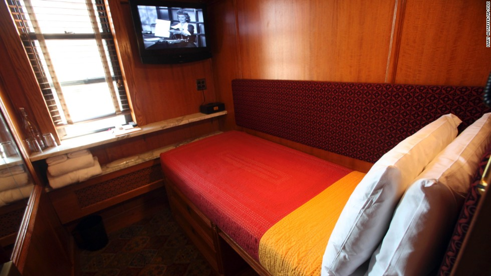 The Jane in New York offers cozy single sleeping stations that resemble luxury cabins on a train.