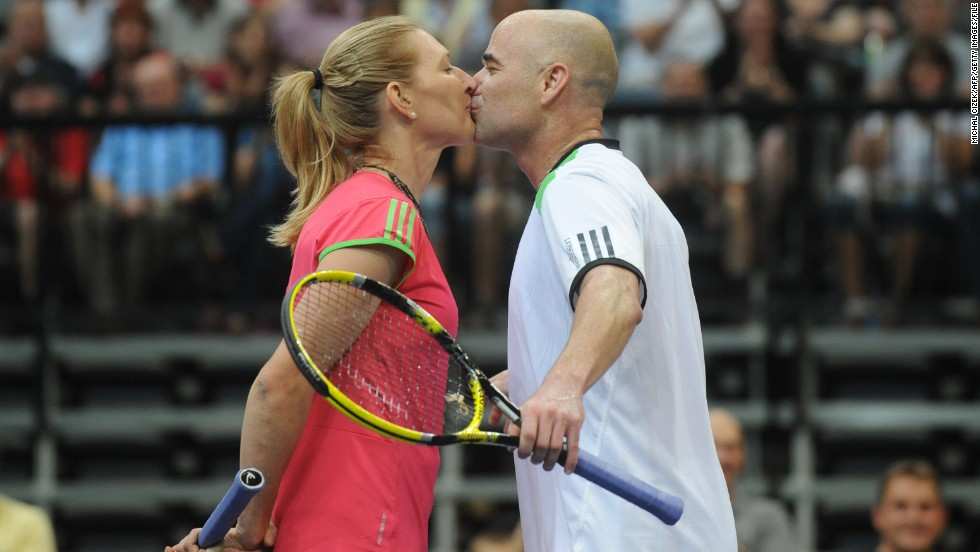Tennis super stars Andre Agassi and Steffi Graf are living proof that sporting couples can go the distance. The former world No. 1s married in 2001 and have two children together.