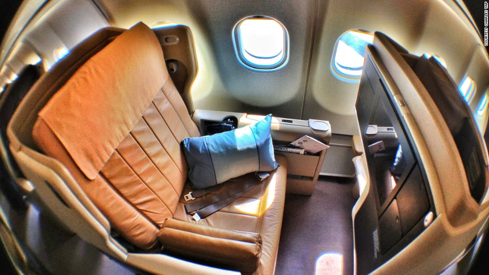 Singapore Airlines took third place. The airline's economy seats are designed so that when you recline, you don't take up much space for the person behind you. Passengers also get individual reading lamps and in-seat power supply.