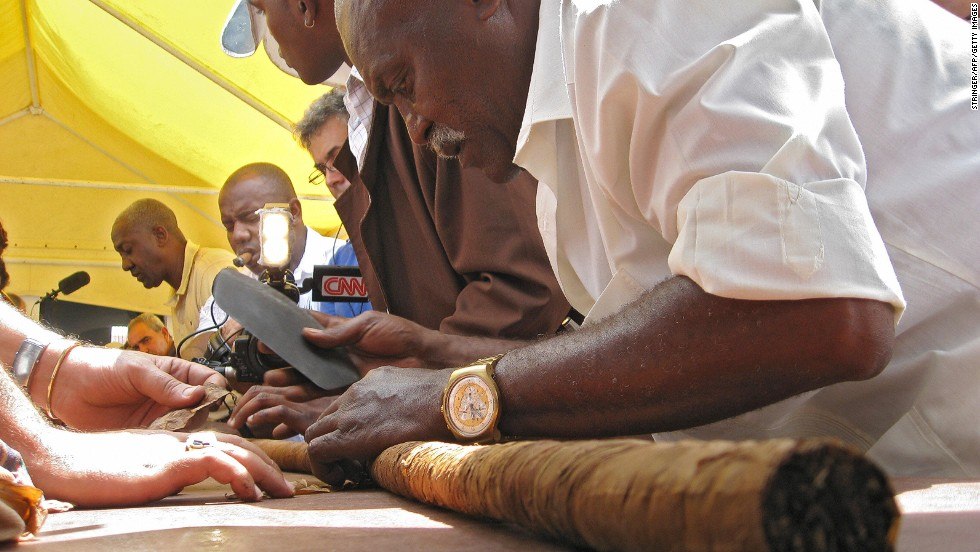 For more than a decade, the Guinness World Record title for the longest hand-rolled cigar has been fiercely battled over. Jose Castelar Cairo from Havana held the first title by hand-rolling an 11-meter cigar in 2001. The record bounced numerous times between Cairo, Puerto Rico's Patricio Peña and Florida couple Wallace and Margarita Reyes till Cairo took the record back again in 2011 with an 81.8-meter cigar. You know this isn't over.