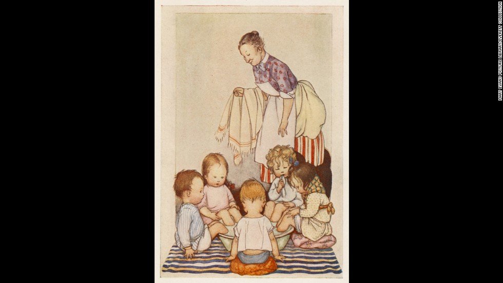 "In this 1920s book illustration, five sick kids sit with their feet in a tub of mustard and hot water. Caregivers used <a href=""http://www.besthealthmag.ca/get-healthy/home-remedies/natural-home-remedies-colds-and-flu"" target=""_blank"">mustard footbaths</a> to draw blood to the feet, which was said to help relieve congestion."