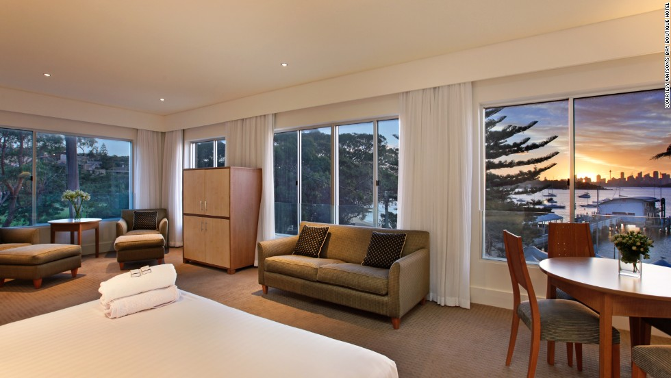A scenic 20-minute ferry ride from central Sydney lands budget-minded travelers in Watsons Bay, where room rates at Watsons Bay Boutique Hotel start at about $170.
