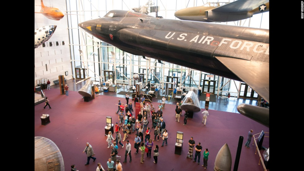 Visitors enter the Smithsonian Institution's Air and Space Museum in Washington on October 17.