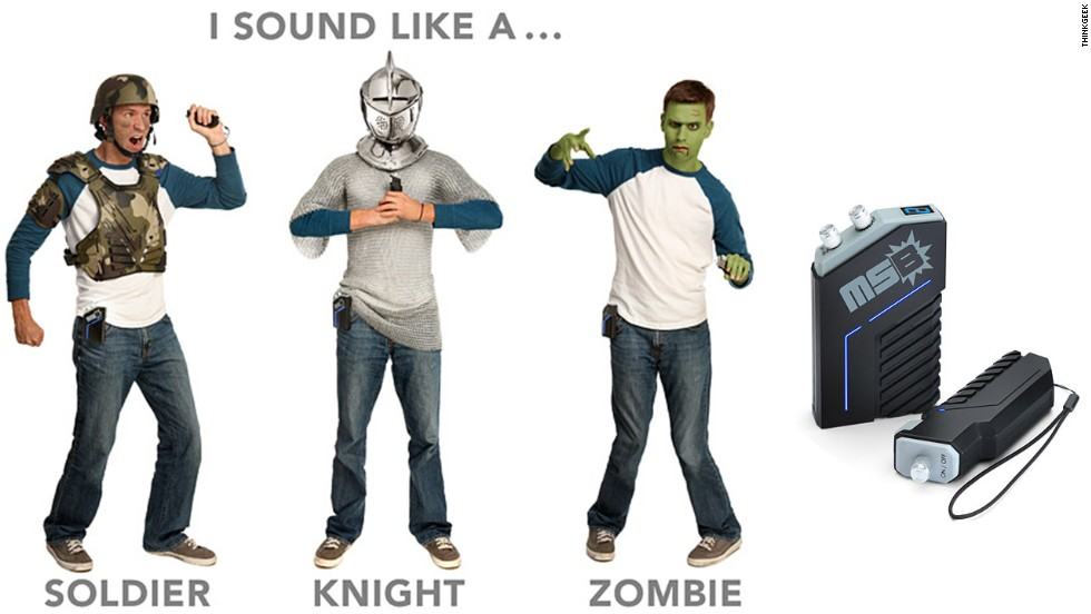"Blood and gore cover the visual aspects of a costume, but what about the other senses? The <a href=""http://www.thinkgeek.com/product/124f/"" target=""_blank"">MegaStomp tool </a>available on ThinkGeek adds sound effects to Halloween costumes every time you take a step."