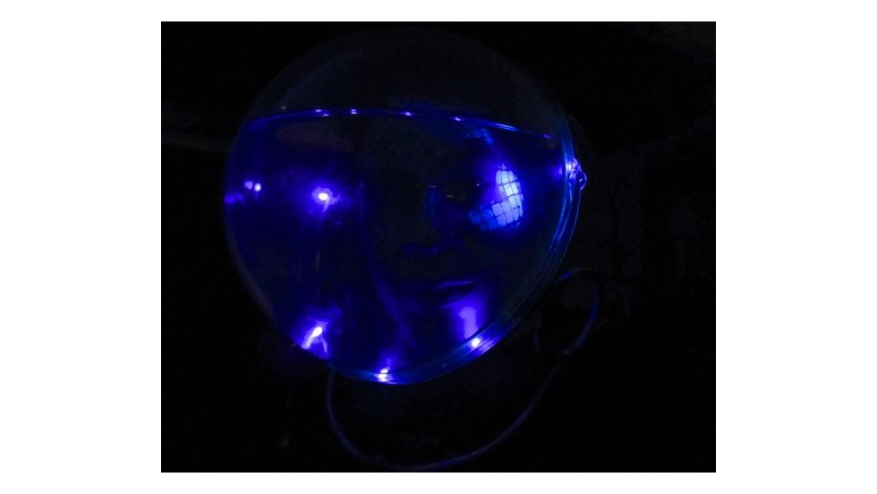 """<a href=""""http://www.instructables.com/id/Aliens-from-an-underwater-plannet/"""" target=""""_blank"""">This costume</a> requires some imagination, water, lighting and bubbles. It's a space costume meant for visiting aliens from a water-based planet. They need it to move around Earth and still breathe as well as look cool at parties."""