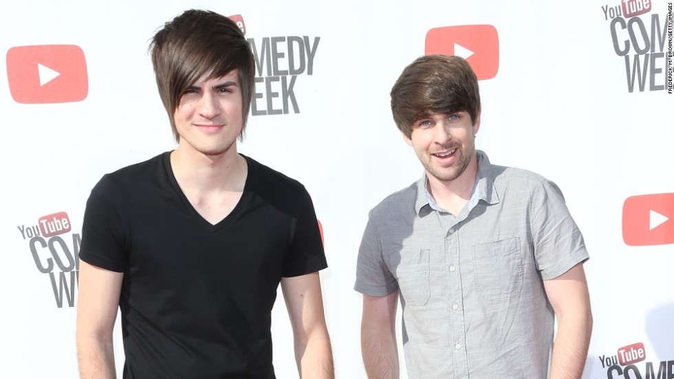 "Anthony Padilla, left, and Ian Hecox form the comedy duo <a href=""http://www.youtube.com/smosh"" target=""_blank"">""Smosh,""</a> who started by simply lip-syncing old kids' TV theme songs. Now they have an astonishing 12.9 million subscribers on YouTube."