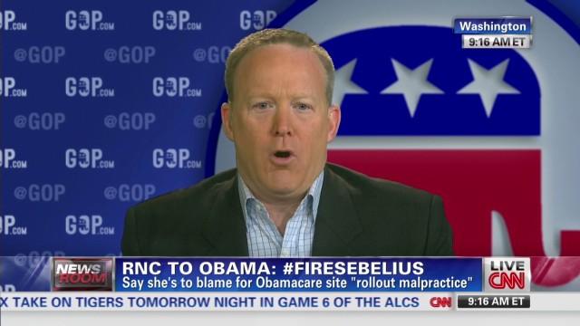 Republicans To Obama: #FireSebelius