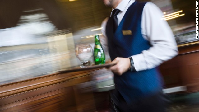 A waiter -- not a garçon.