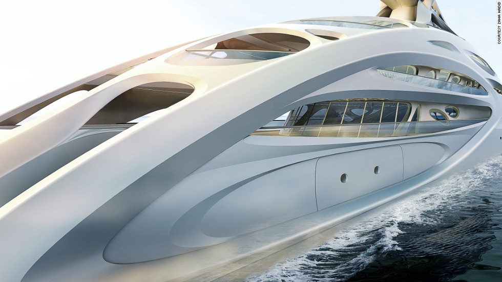 "The six concept yachts, designed for German shipbuilders Blohm+Voss, range from a 128-meter ""master prototype"" to a 90-meter version called ""Jazz."""