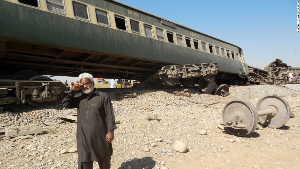 Authorities suspended train service after the attack, which also damaged the rail tracks.