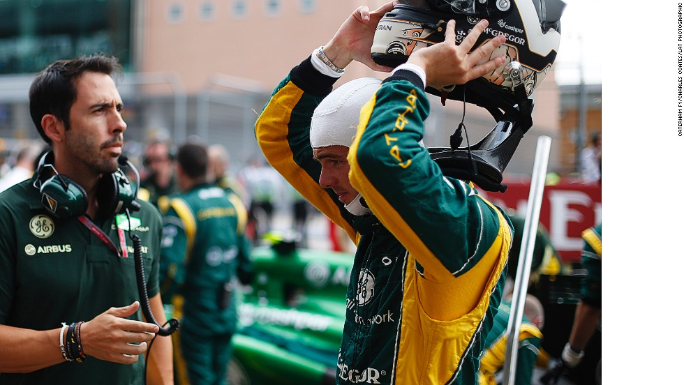 """Trainer Carlos Corell (left) keeps Van Der Garde on a strict diet and fitness regime to help the Dutch racer maintain his weight. """"If you want to be in F1 you have to train harder than the rest, you have to take care of the diet more than the rest,"""" Corell says."""