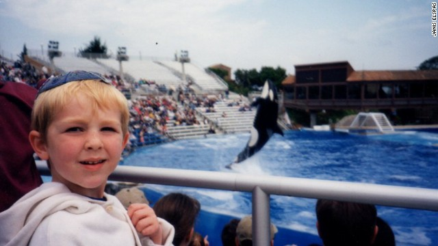 Janis Brett Elspas' oldest son back in 1998 during the first of some 20 family trips to SeaWorld.